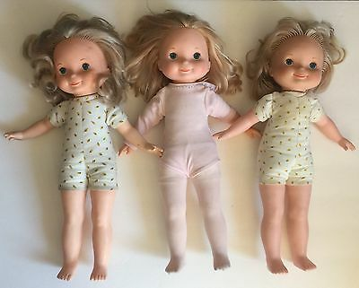 Vintage Fisher Price MY FRIEND DOLLS Lot of 3