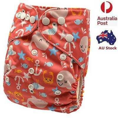 Baby Modern Cloth Nappies MCN Diaper Nappy Waterproof-Outer-Layer Reusable (D87)