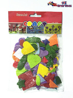 Felt Assorted Colourful Shapes Kids Fun Arts and Craft Project ZB-005