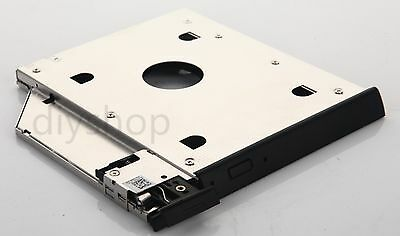 2nd HDD SSD Hard Drive Caddy for Dell Latitude E6440 E6540 with ejector + Bezel