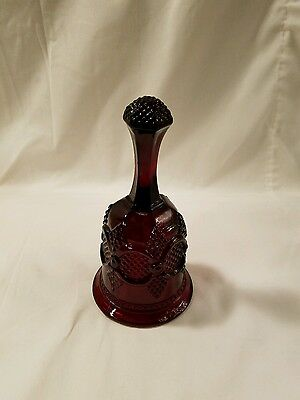 Avon 1876 Cape Cod Collection Dinner Bell Ruby Red Glass