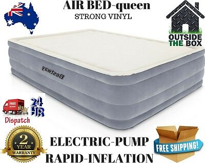 Bestway Luxury Queen Inflatable Airbed Mattress Built In Electric Pump Camping