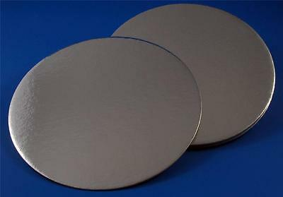 8 Inch Silver Cake Boards Round Turned Edge 1.7Mm Thick From Only 48P Each