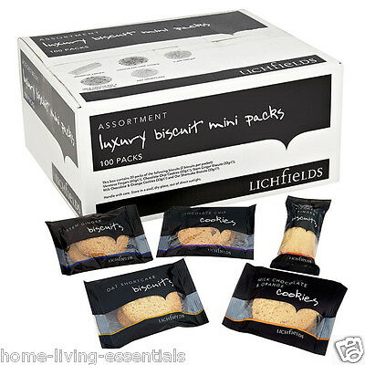 Lichfields Luxury Biscuits Cookies Office Cafe Hotel Lunch 100 Packs