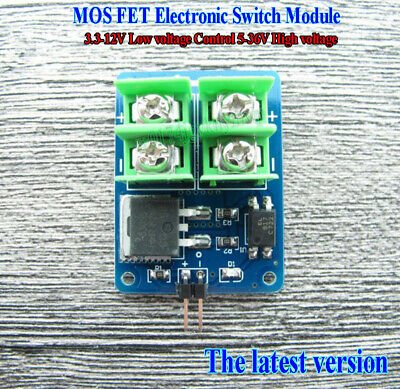 3.3V-12V Low voltage Control 5-36V High voltage MOS FET Electronic Switch Module