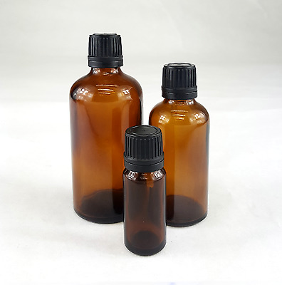 10ml 50ml 100ml Glass Bottles From 3 to 140 Small Amber Pipette Dropper Bottles