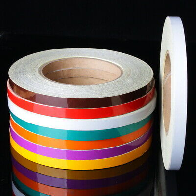 Reflective Tape 1cm x 45m Sticker Car truck Body Stripe Motrocycle Rim Wheel