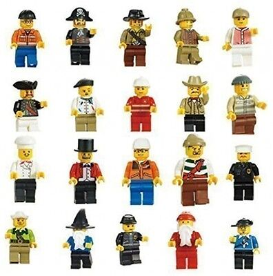 R&M 10Pc Lego Compatible Lot Minifigures Man People Toys Guys Town Men City New