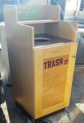 Restaurant Self Serve TRASH CAN Receptacle Fast Food