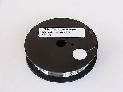 Resistance heating wire Nichrome  28 awg 100 ft