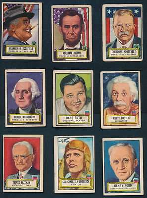 1952 Look N See Historical Figures VG avg complete set of 135 cards 37494