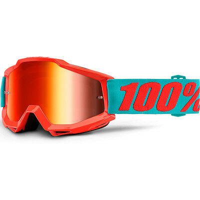 100% Percent Mx NEW Accuri Passion Orange Dirt Bike Red Tinted Motocross Goggles
