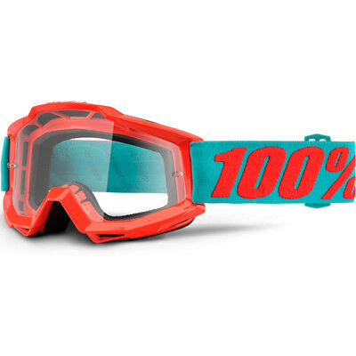100% Percent Mx NEW Accuri Passion Orange Dirt Bike Clear Lens Motocross Goggles
