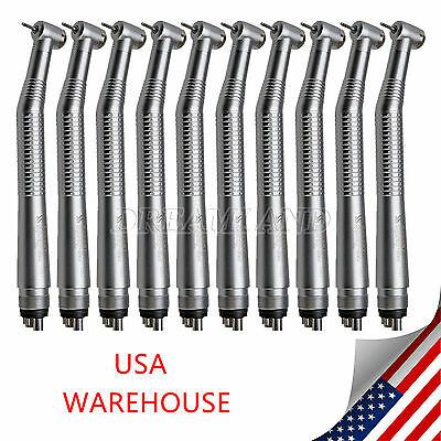10 X NSK Style Dental High Speed Handpiece Turbine Push Button 4Hole SANDENT YQ2