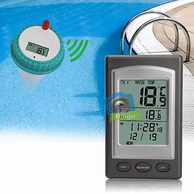 Funk LCD Schwimmbad Pool Thermometer Poolthermometer Teichthermometer【DE】