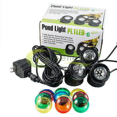 JeBao Submersible 3 Led Pond Lights For Underwater Fountain Pond Water Garden US