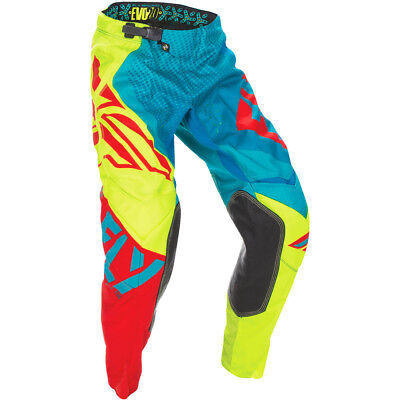 Fly Racing 2017 Mx Gear NEW Evolution 2.0 Teal Hi-Vis Yellow Red Motocross Pants