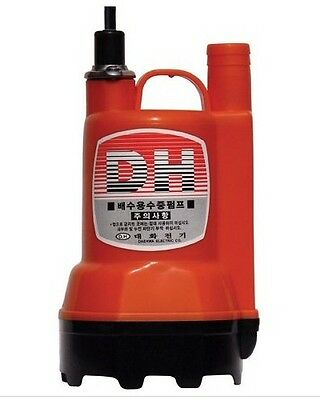 DC 12V 110W Small & Powerful Submersible Water Pump 1250GPH Max lift 7m for Pond