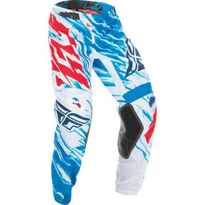 Fly Racing 2017 Mx NEW Kids Kinetic Relapse Blue Red White Youth Motocross Pants