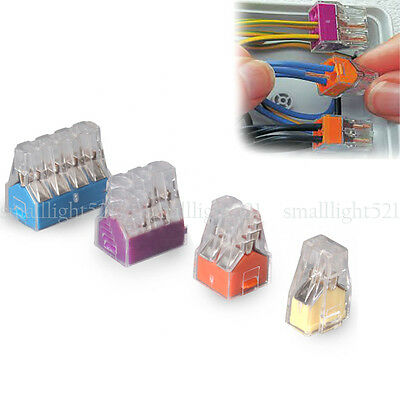 5-50PCS Wago Pole Push Electrical Cable Connector Wire Block Terminal Car Useful