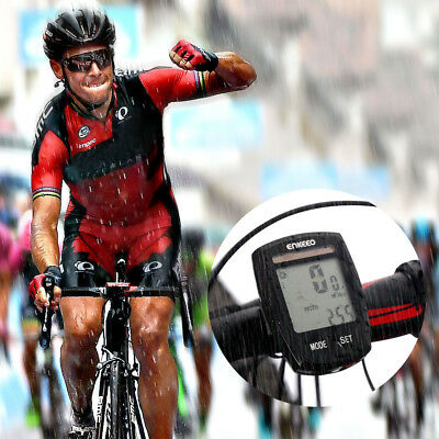Waterproof Wireless Solar Panel Bicycle Computer LCD Cycle Speedometer Odometer