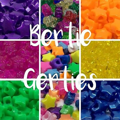 *3 for 2!* Mix/Single - 50 Star Pony Beads 13mm - Many Colours & finishes