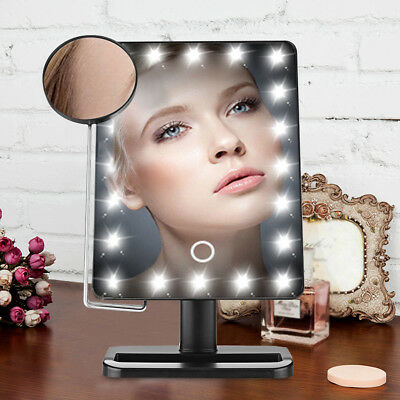10X Magnifying Touch LED Lighted Vanity Cosmetic Makeup Mirror Standing Mirrors
