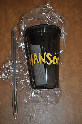 RARE NEW Hanson Music Made for Humans White Collar Crime Tumbler Travel Cup!