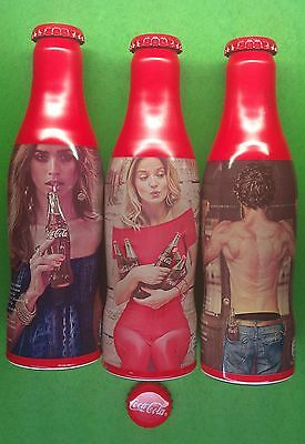 LOT Bulgarian Coca Cola aluminum bottles LIMITED collectibe TASTE THE FEELING