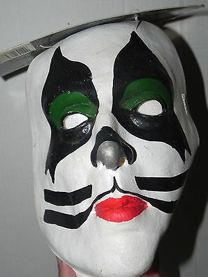 KISS Vintage 1997 Paper Magic Halloween Mask Peter Criss W/ Tag 656433