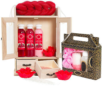 15 tlg. Bade Set Wellness Pflegeset Cranberry Vanilla Beautyset Geschenk Set