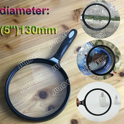 Extra Large Handheld Magnifier Fine Print/Map Reading New Giant Magnifying Glass