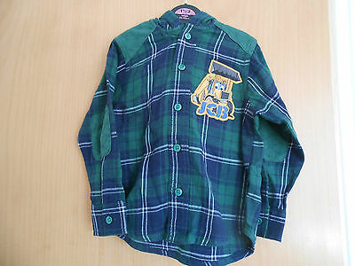 Baby Boys  Hooded Shirt,Green and Blue checked JCB, BNWT
