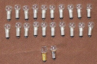 20 New C6 longshank 15V/5W replacement bulbs Noma bubble lights/Matchless star