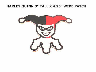 DIAMOND HARLEY QUINN JOKER BATMAN EMBROIDERY IRON ON PATCH BADGE US Seller