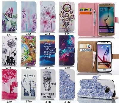 Fashion Printed Flip PU Leather Kickstand Card Pocket Case Cover For Samsung ZT