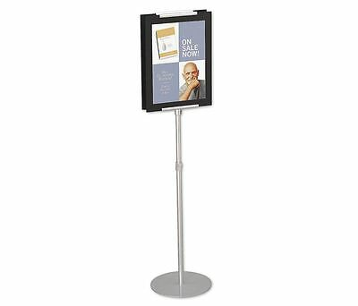 NEW QUARTET 7923 Adjustable Sign Stand,44 to 73 In (T)