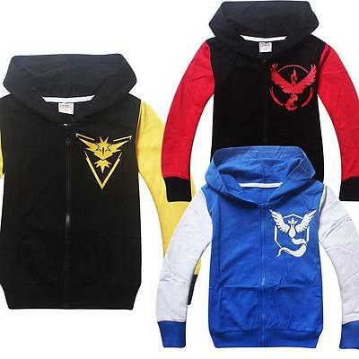 Pokemon Go Kids Baby Boys Girls Long Sleeve Hoodies Casual Tops Clothes 2-10Y