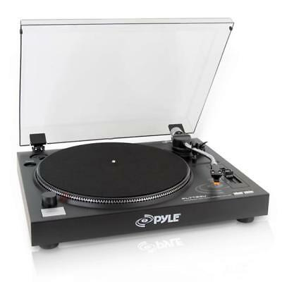 New Pyle PLTTB3U Belt Drive USB Turntable with Digital Recording Software