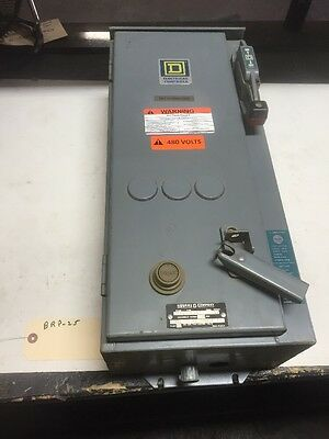 SQUARE D 8539 SCA 53 Combo Motor Starter Disconnect 10HP Size 1 120-110v Coil