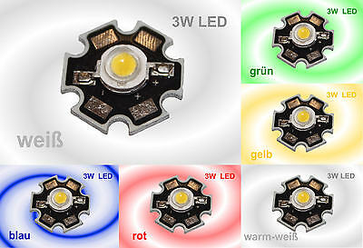 HIGHPOWER 3W LED Chip Hochleistung LEDs auf Platine High-Power  3 Watt
