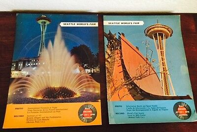1962 SEATTLE WORLD'S FAIR Set Of 2 PICTURE DISC POST CARD RECORDs
