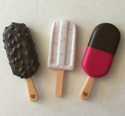 Our Generation Doll Replacement 3 Ice Cream Treats for Truck
