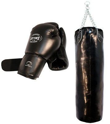 Heavy Duty Pro Boxing Gloves & Pro Huge Punching Bag with Chains New Punching