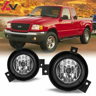 For 2001-2003 Ford Ranger Fog Lights Driving Lamps Replacement DOT Clear Lens