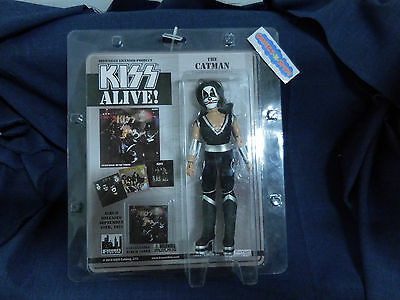 """KISS Alive! The Catman 8"""" Action Figure w/ Collectable Album Cover MINT 2013"""