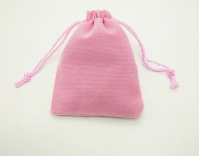 """4 pcs small 3.5""""x4.2"""" Velvet Bags Jewelry Wedding Party Gift Drawstring Pouches"""