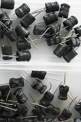 (40x) Lot of 40 pcs Quality Through Hole Inductors Different Values Assortment