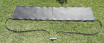 Solar heating panel for slasher and small above ground pool