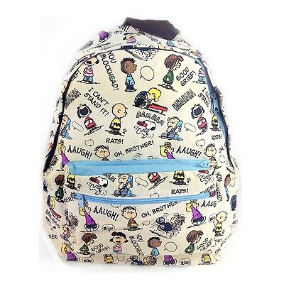 "Peanuts Snoopy with Friends 17"" Large Size School Backpack"